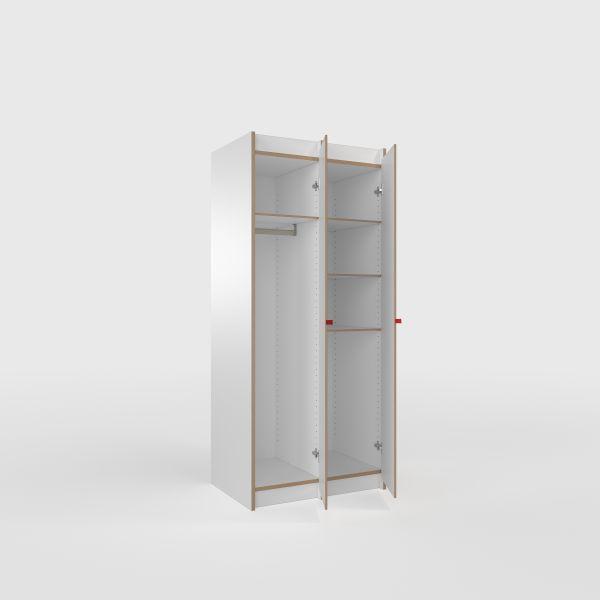 Tojo-Tojo Schränke-Designer Schrank Tojo-steh Grundmodul + 1x Anbaumodul,  MDF weiß.jpg